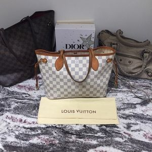 LOUIS VUITTON | Authentic Neverfull PM Damier Azur
